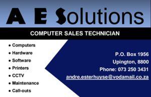 Kakamas Computer sales and repairs | A E Solutions