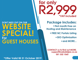 Website Special for Guest Houses | Kakamas Accommodation, Business & Tourism Portal